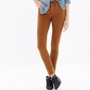 """Madewell 9"""" High Rise Skinny Ankle Sateen Jeans 25"""